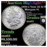 *Highlight* 1896-o Vam 20 I2 R5 Morgan $1 Graded S