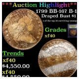 *Highlight* 1799 BB-167 B-14 Draped Bust $1 Graded