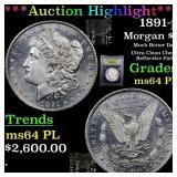 *Highlight* 1891-p Morgan $1 Graded Choice Unc PL