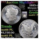 *Highlight* 1885-cc Morgan $1 Graded ms65+ PL