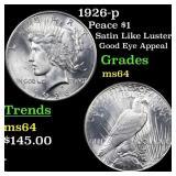 1926-p Peace $1 Grades Choice Unc