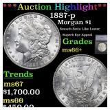 *Highlight* 1887-p Morgan $1 Graded ms66+