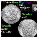 *Highlight* 1892-p Morgan $1 Graded Select Unc