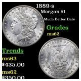 1889-s Morgan $1 Grades Select Unc