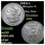 1884-s Morgan $1 Grades xf+