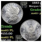 1883-p Morgan $1 Grades Select Unc+ PL