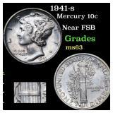 1941-s Mercury 10c Grades Select Unc