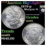 *Highlight* 1879-p Morgan $1 Graded GEM Unc