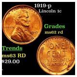 1919-p Lincoln 1c Grades Select Unc RD
