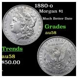1880-o Morgan $1 Grades Choice AU/BU Slider
