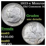 1923-s Monroe Old Commem 50c Grades Unc Details