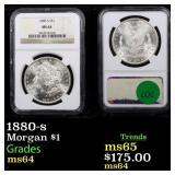 1880-s Morgan $1 Graded ms64