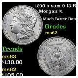 1890-s vam 9 I3 R3 Morgan $1 Grades Select Unc