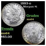 1883-o Morgan $1 Grades Choice Unc