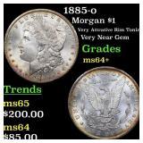 1885-o Morgan $1 Grades Choice+ Unc