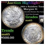 *Highlight* 1901-o Rainbow Toned Morgan $1 Graded