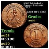 (1863) Knickerbocker Currency F-255-393a cwt Grade