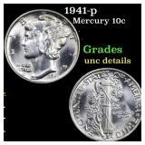 1941-p Mercury 10c Grades Unc Details
