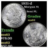 1921-d Morgan $1 Grades Select Unc