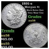 1891-s Morgan $1 Grades Choice AU/BU Slider