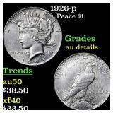 1926-p Peace $1 Grades AU Details