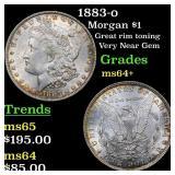1883-o Morgan $1 Grades Choice+ Unc