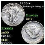 1930-s Standing Liberty 25c Grades xf+