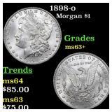 1898-o Morgan $1 Grades Select+ Unc