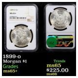 1899-o Morgan $1 Graded ms65+