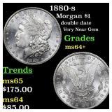 1880-s Morgan $1 Grades Choice+ Unc