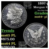 1897-p Morgan $1 Grades Choice Unc+ PL