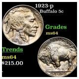 1923-p Buffalo 5c Grades Choice Unc