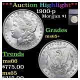 *Highlight* 1900-p Morgan $1 Graded ms65+