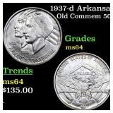 1937-d Arkansas Old Commem 50c Grades Choice Unc