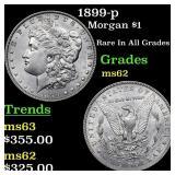 1899-p Morgan $1 Grades Select Unc