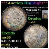 *Highlight* 1887-o Colorfully Toned Vam 8 Morgan $