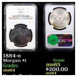 1884-o Morgan $1 Graded ms64