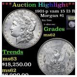 *Highlight* 1901-p vam 15 I3 R5 Morgan $1 Graded S
