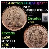 *Highlight* 1806 Draped Bust 1/2c Graded xf45