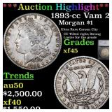 *Highlight* 1893-cc Vam 2  Morgan $1 Graded xf45