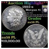*Highlight* 1892-s Morgan $1 Graded Choice AU/BU S