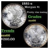 1881-s Morgan $1 Grades GEM+ Unc