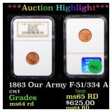 *Highlight* 1863 Our Army F-51/334 A cwt Graded ms