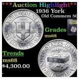 *Highlight* 1936 York Old Commem 50c Graded GEM+++