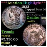 *Highlight* 1833 Capped Bust 50c Graded Select Unc