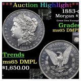 *Highlight* 1883-o Morgan $1 Graded ms65 DMPL