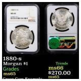 1880-s Morgan $1 Graded ms65