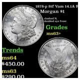 1878-p 8tf Vam 14.1A R5 Morgan $1 Grades Select+ U