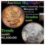 *Highlight* 1890-s Colorfully Toned Morgan $1 Grad