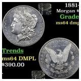 1881-s Morgan $1 Grades Choice Unc DMPL